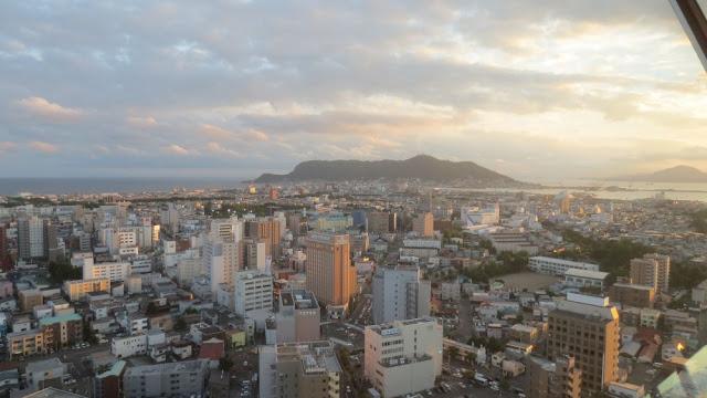 Hakodate - Blick vom Goryokaku Turm auf die Stadt