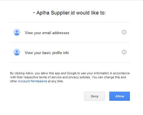 Aplha Supplierid