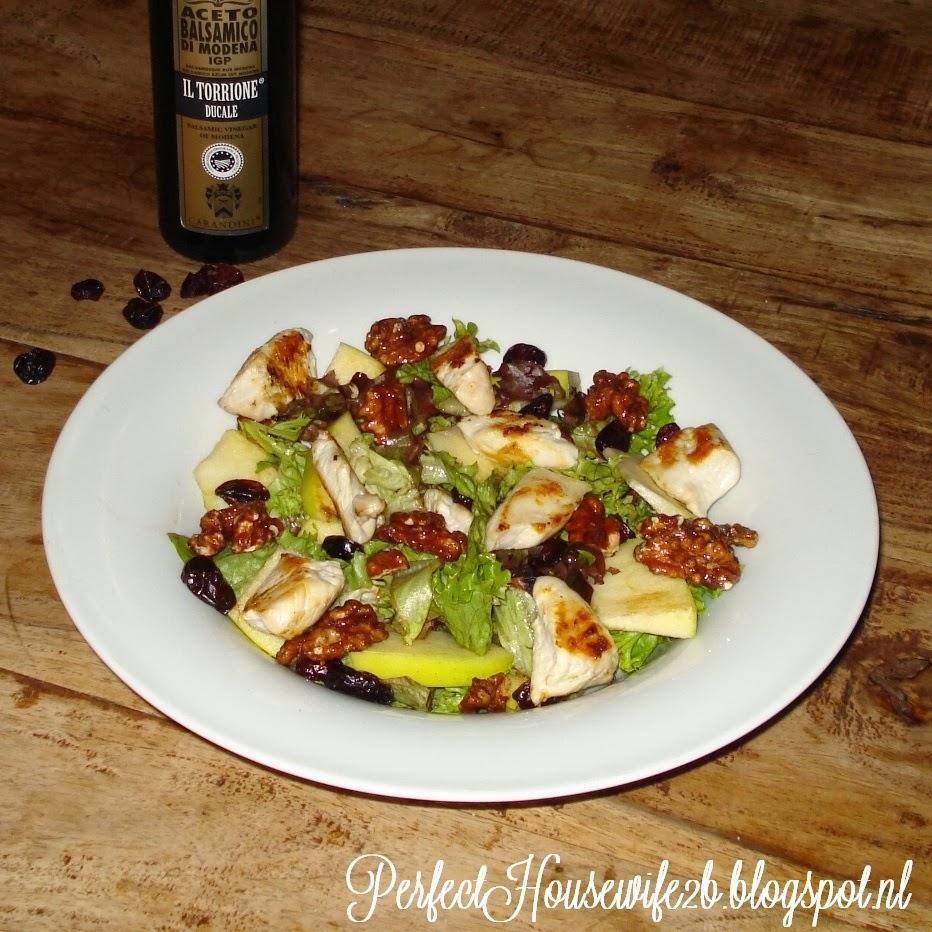 salade bleekselderij appel walnoot