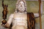 Estatua del dios Júpiter, el rey de los dioses de la mitología romana