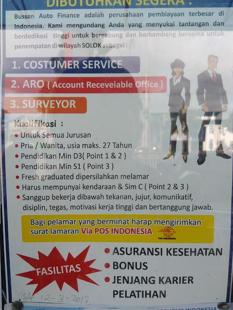 Lowongan Kerja di Padang – Bussan Auto Finance – 3 Posisi (Closed 13 Maret 2017)