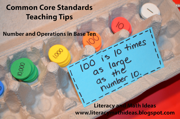 Literacy & Math Ideas Common Core Teaching Tips