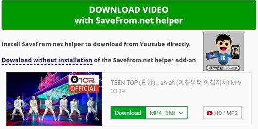 Solusi Download Video Youtube Tidak ada 720p di SaveFrom.net