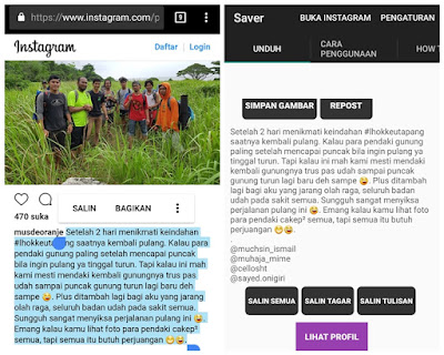 Cara Copy Paste Caption Orang Di Instagram