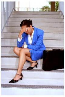 Trabajadora estresada