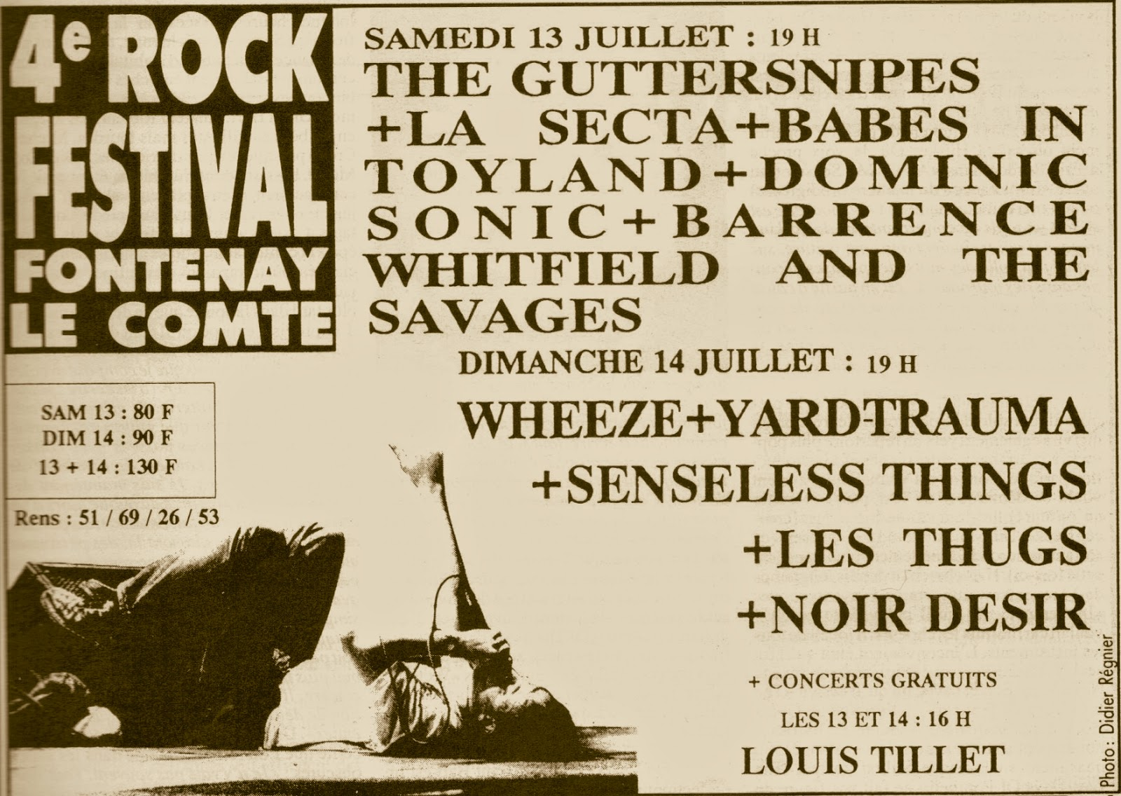 les thugs concerts pub 14 juillet 1991 festival fontenay le comte. Black Bedroom Furniture Sets. Home Design Ideas