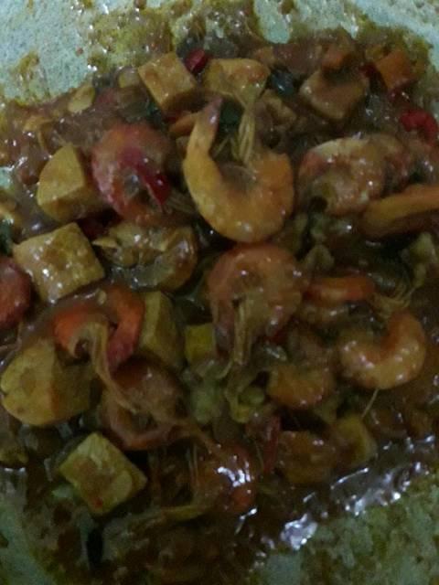Resep udang tofu masak saus padang ala rumah makan ciwidey