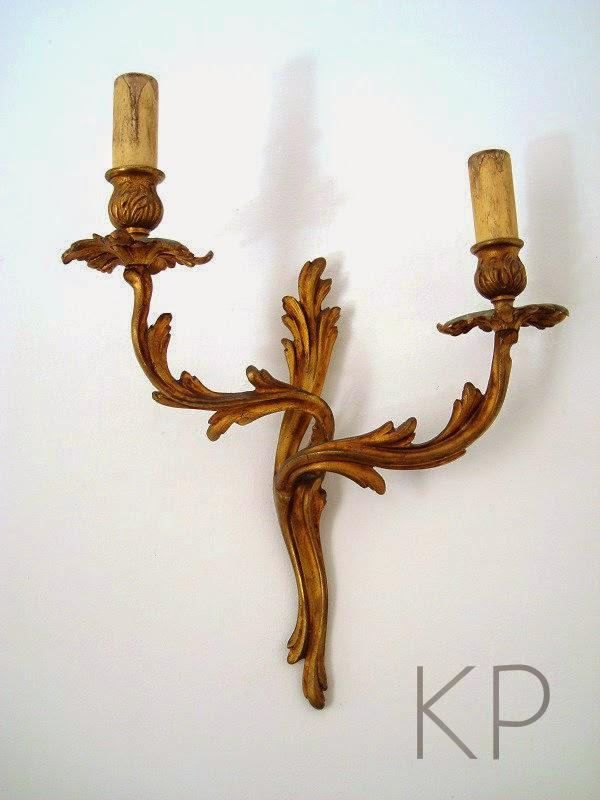 Apliques antiguos de bronce. Francia años 40