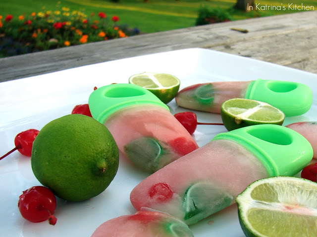 Cherry Lime Popsicles Kid-Friendly #recipe from @KatrinasKitchen