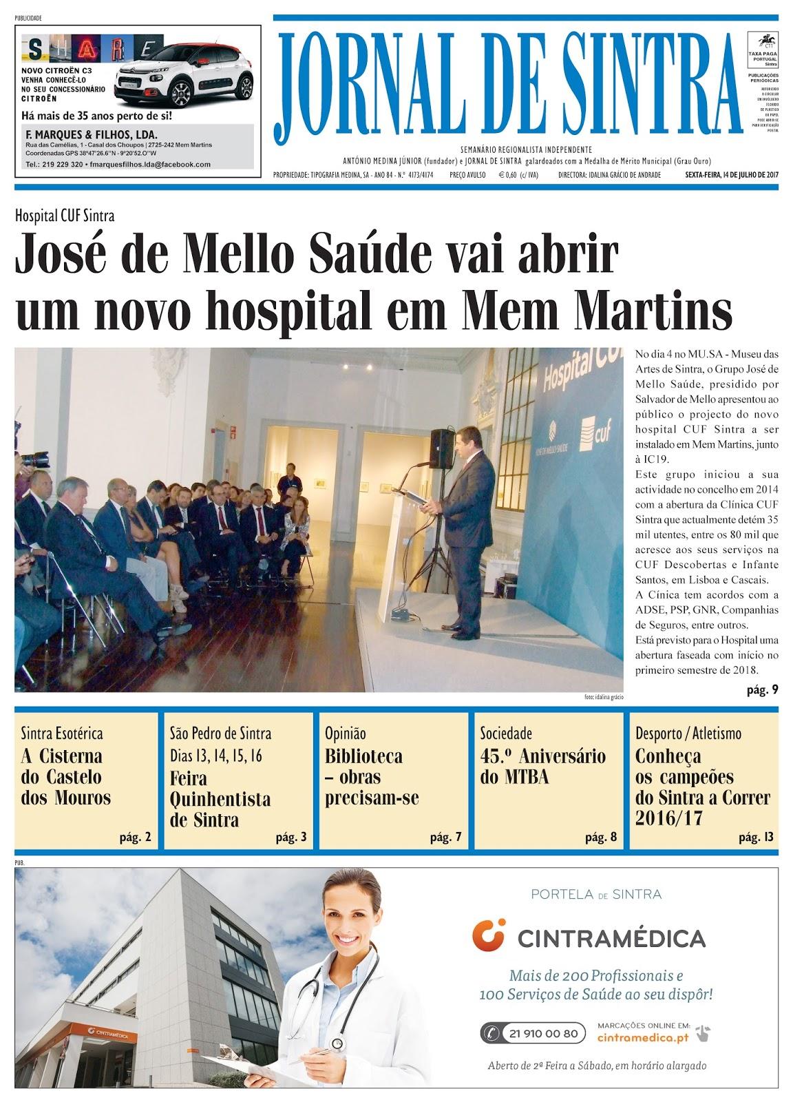 Capa da edição de 14-07-2017