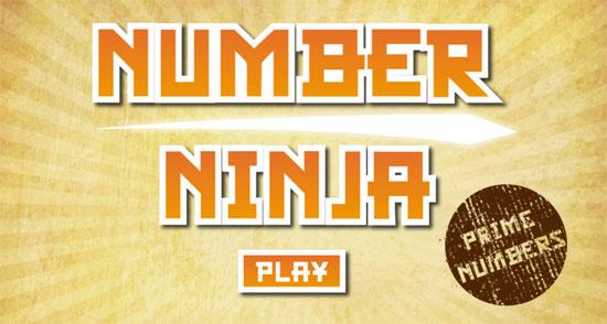 Juego el ninja de los números: ¡no cortes los números primos!