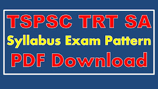 TS DSE SA Syllabus School Assistant Syllabus PDF Download