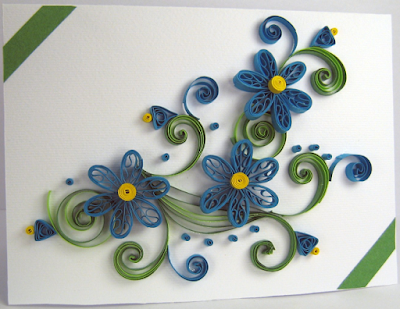 Flower model quilling birthday greeting card for girls - quillingpaperdesigns