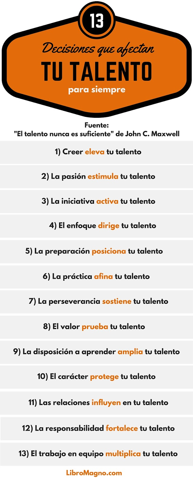 13 decisiones que afectan tu talento