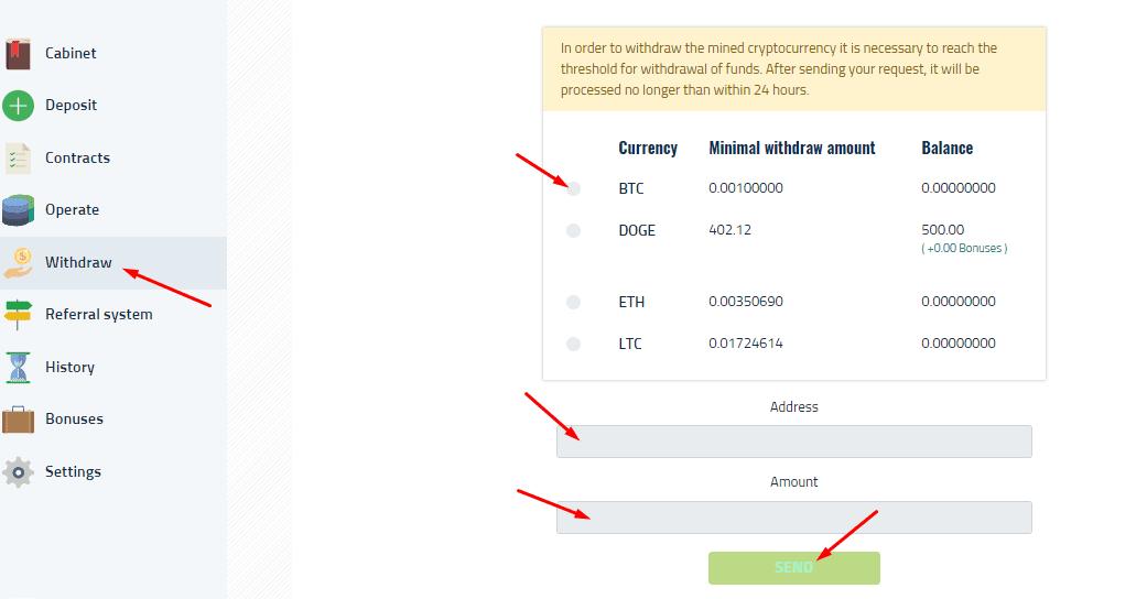 Регистрация в Mining24 6