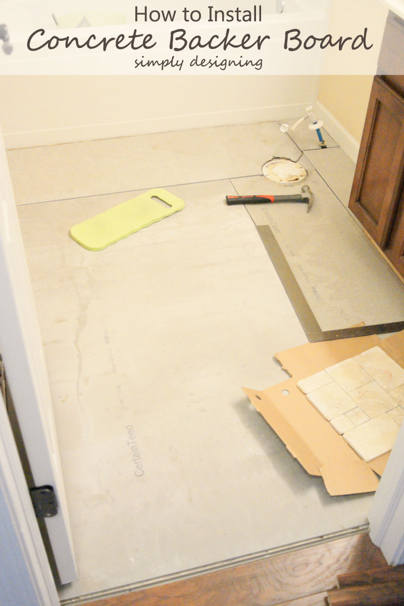 How to Install Concrete Backer Board | a complete tutorial for how to demo, prep, install concrete backer board and install tile | #diy #bathroom #tile #thetileshop @thetileshop