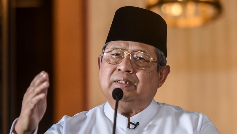 SBY gelar jumpa pers di rumahnya, Jalan Mega Kuningan, Jaksel
