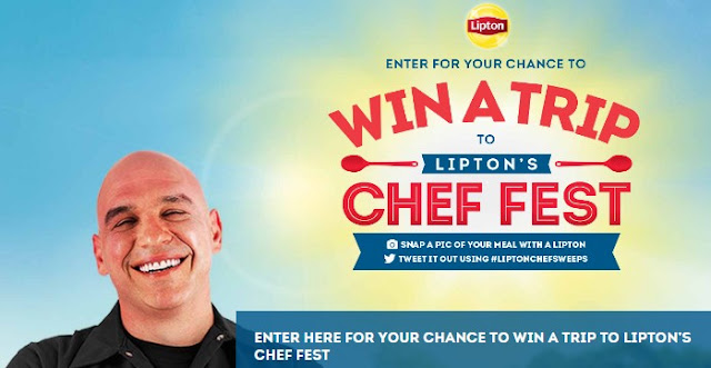 Lipton Tea wants you to enter daily for a chance to win a trip to their Chef Fest this year, which is hosted by celebrity chef Michael Symon, complete with flights, hotel and spending money!
