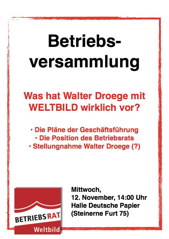 Weltbild Verdi Infoblog: November 2014