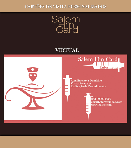 Cartão de Visita - Modelo 1 - Enfermeira - Virtual