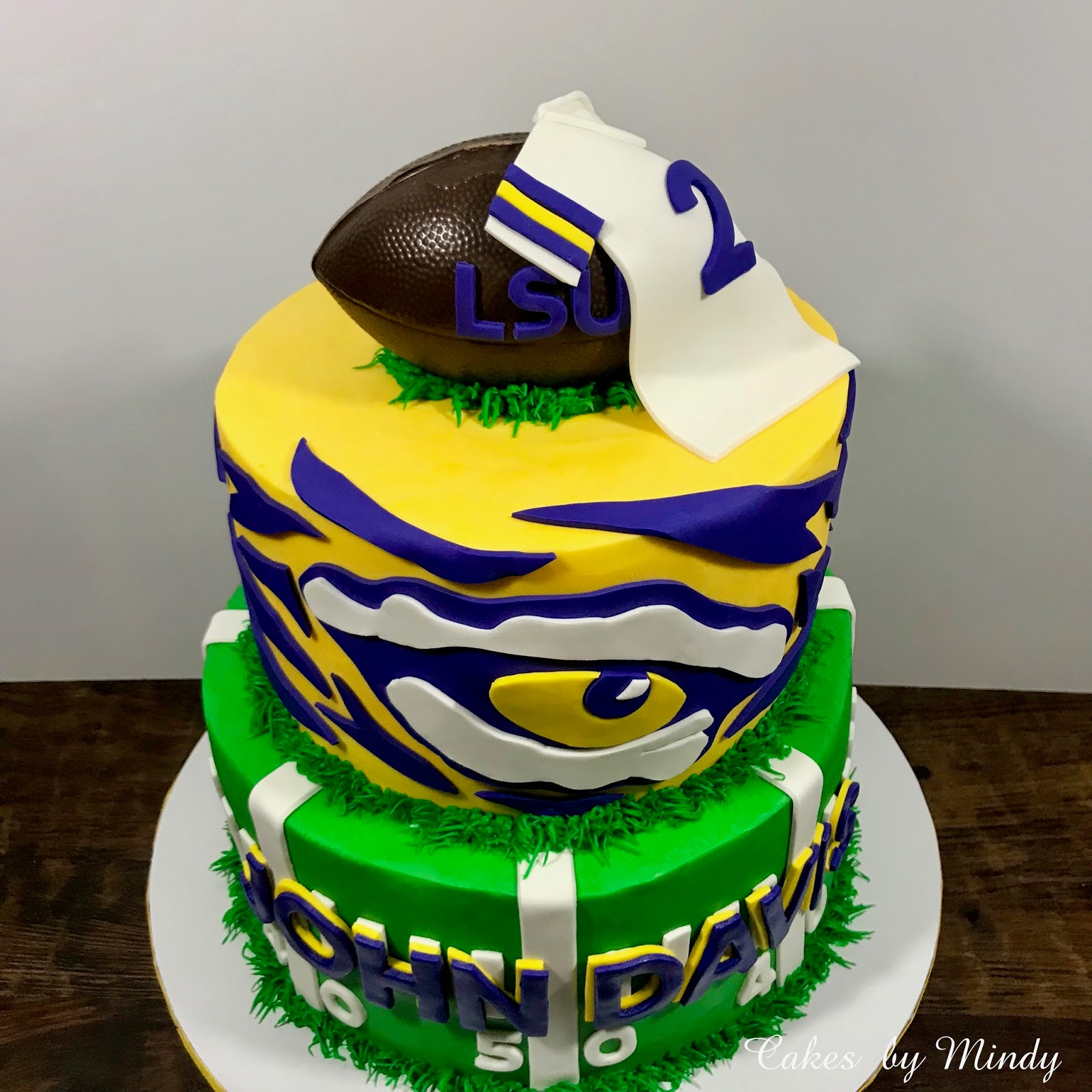 Fine Cakes By Mindy Lsu Tigers Birthday Cake 8 10 Personalised Birthday Cards Veneteletsinfo