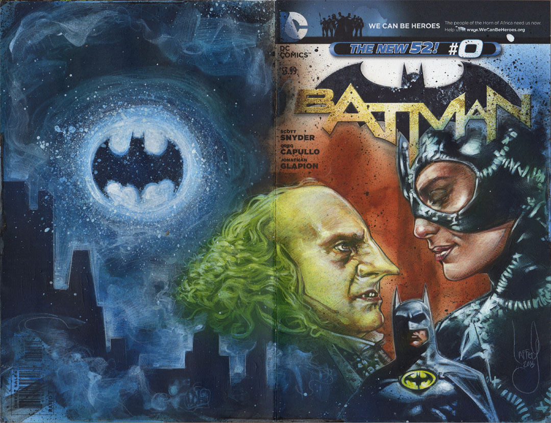 Batman Sketch Cover, Artwork is Copyright © 2014 Jeff Lafferty