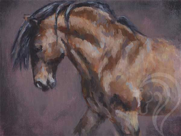 equestrian art, equestrian artist uk, contemporary equestrian art, abstract acrylic painting, highland pony art