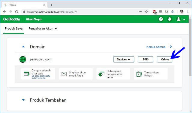 cara pasang domain baru di blogspot