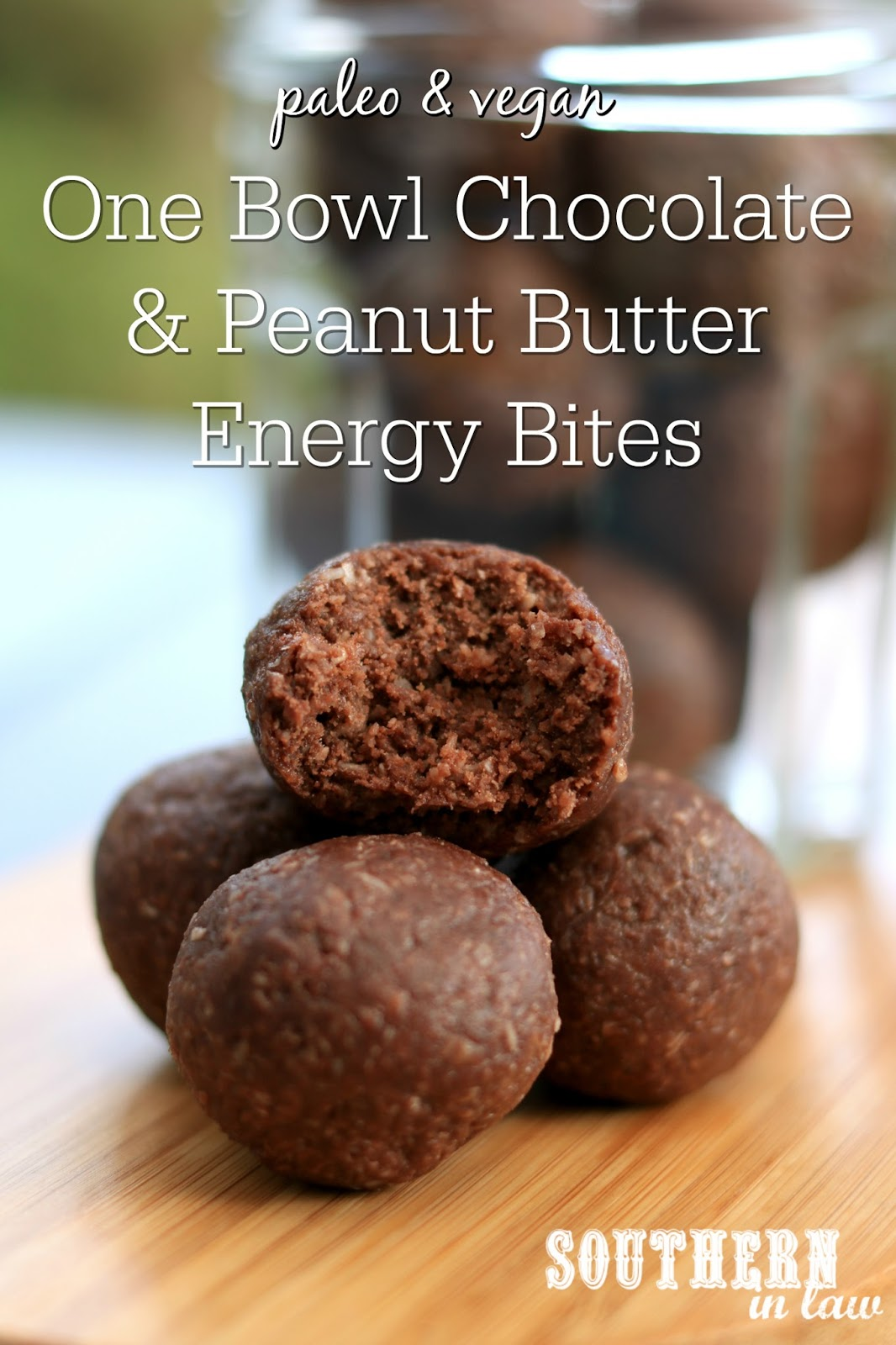 Southern in law recipe one bowl chocolate peanut butter energy a blender or food processor but not this one this is a simple one bowl recipe you can make anytime anywhere and all you need is four ingredients forumfinder Images