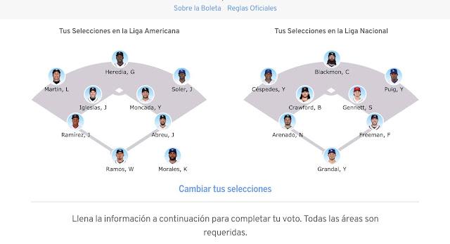 La MLB ha puesto disponible la boleta digital con los candidatos al Juego de las Estrella, a celebrarse este 2018 en el Nationals Park, Washington, el próximo martes 17 de julio