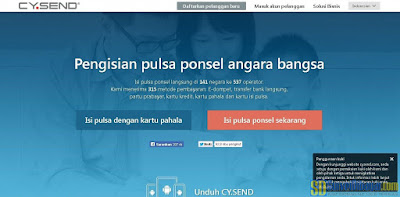 Website jasa pengisian pulsa CY.Send | SurveiDibayar.com