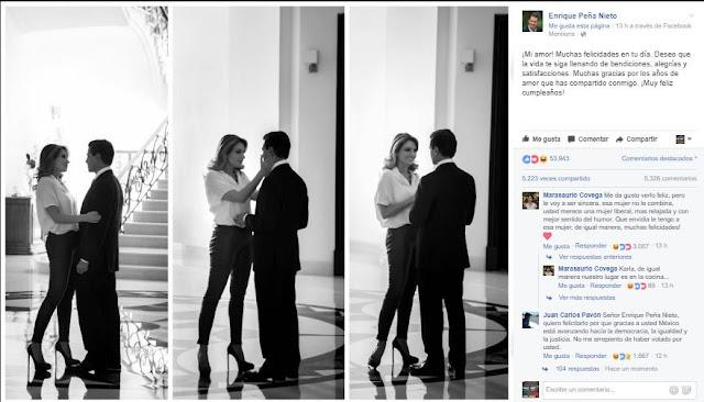 Peña Nieto felicitó a su esposa Angélica Rivera, mira los peores momentos de la Primera Dama