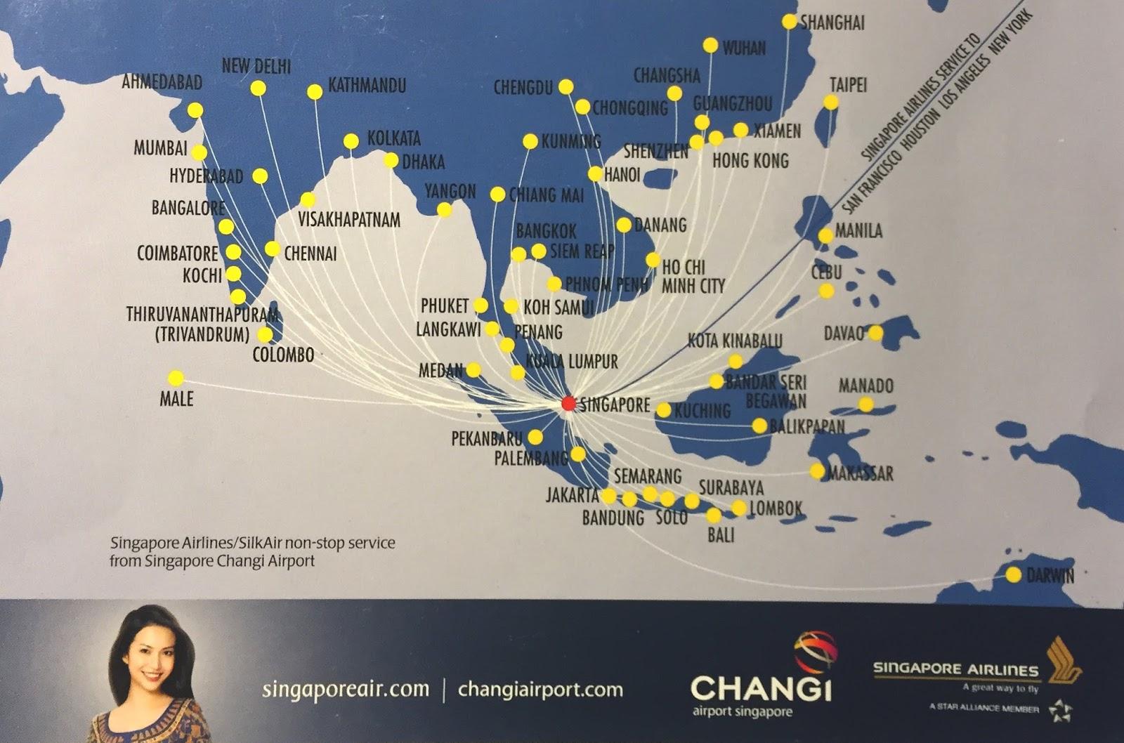 Top 10 Punto Medio Noticias | Singapore Airlines Flight Map Asia