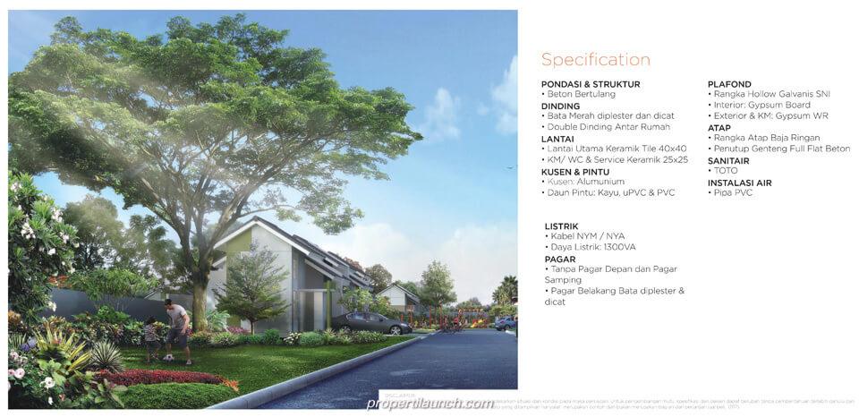 Spesifikasi Rumah Kalista Homes Sekar