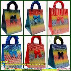 Tas Dus Nasi Dan Kue Motif Batik Rainbow UK25