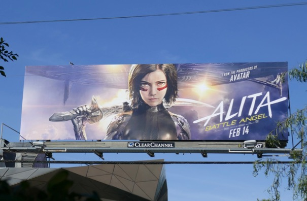 Alita Battle Angel billboard