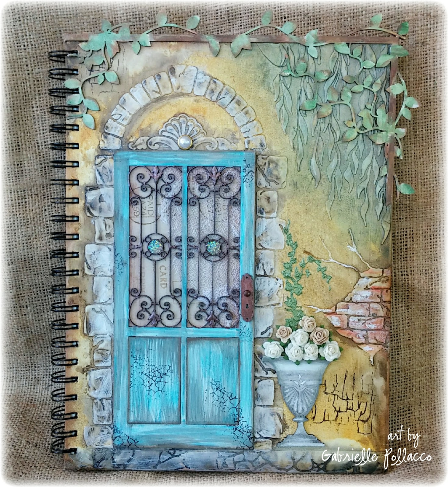 Shimmerz Paints Textured Journal Covers With Gabrielle
