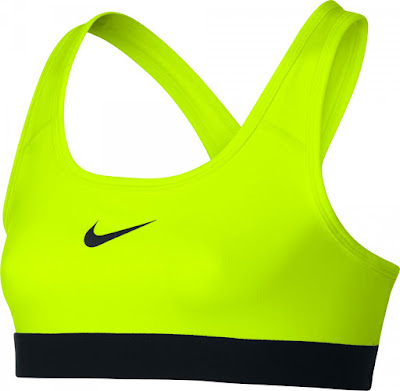 Sportovní dívčí podprsenka Nike Pro 819727-702 neonově žlutá