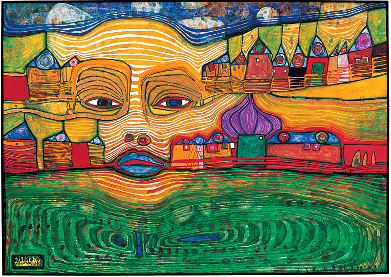 The Hundertwasser Museum In Kunst Haus Wien Has A Large Collection Of His  Work, Including Paintings, Graphic Work, Applied Art, And Tapestry.