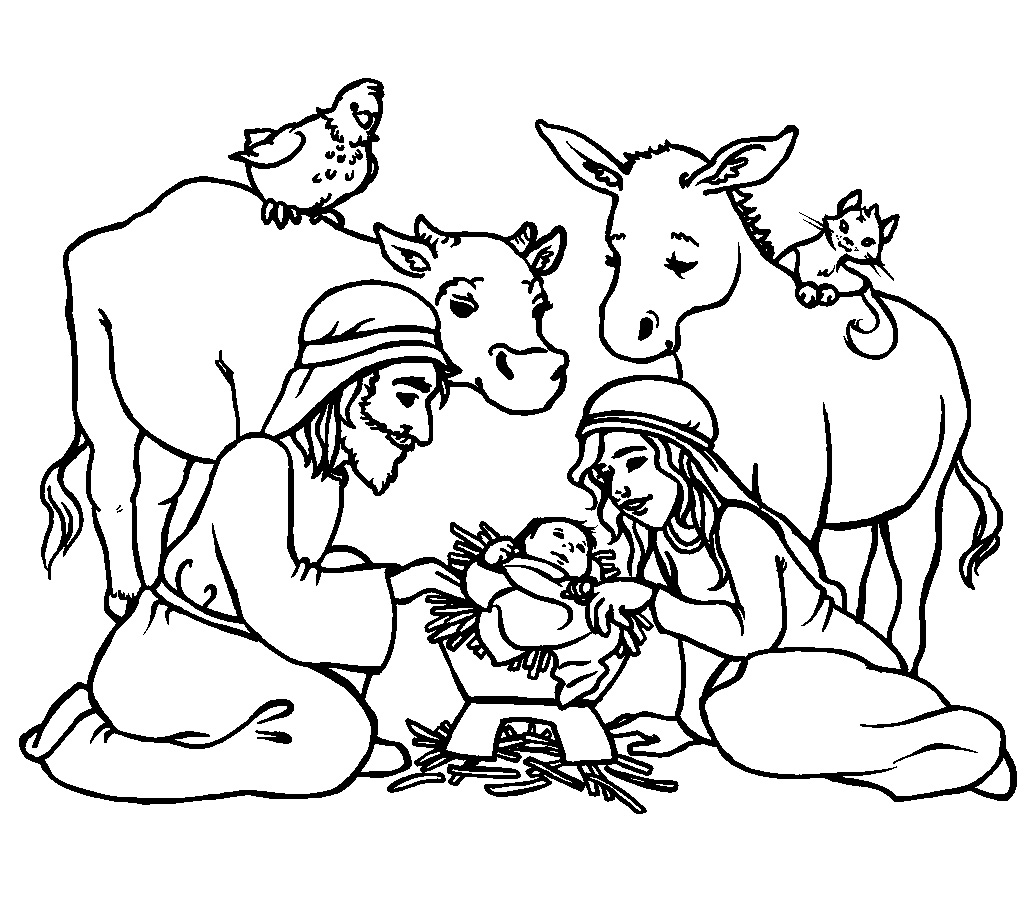 free bible christmas coloring pages | Religious Coloring Pictures