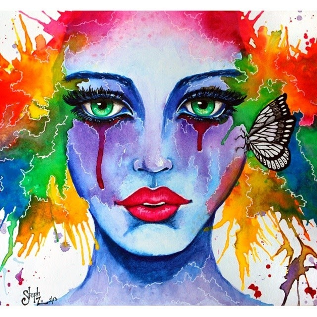 15-Watercolor-Painting-Steph-Diaz-Zahalka-A-Compilation-of-Different-Portrait-Style-Drawings-www-designstack-co