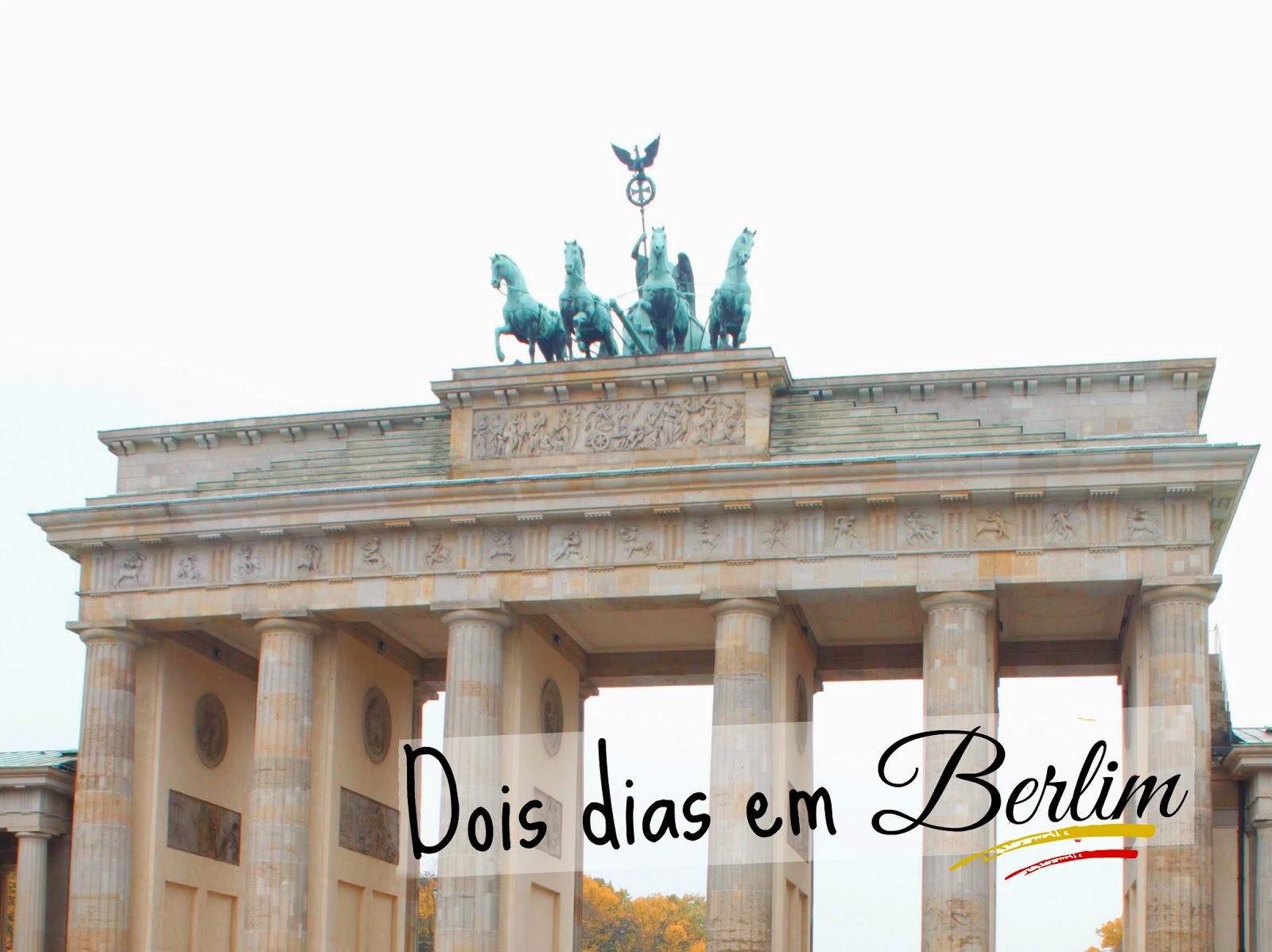 Dois dias em Berlim - Portão de Brandemburgo