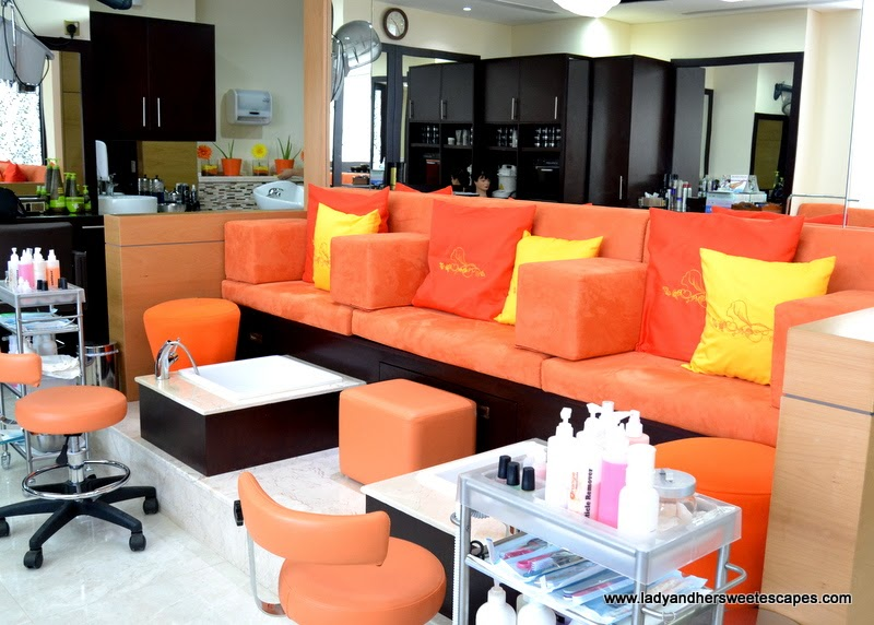 Orange Beauty Center foot spa and pedicure section