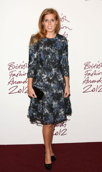 Princess Beatrice wore an Erdem Fall 2012 dress, who was in attendance collecting the 'New Establishment' Award