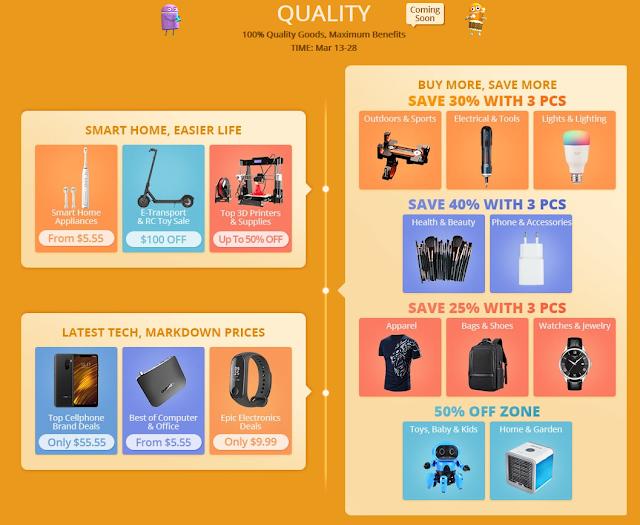 5º Aniversário da Gearbest - Guia de Compras
