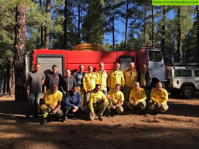 Voluntarios contra incendios del Ayuntamiento de Tijarafe reciben formación básica