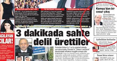 Πρωτοσέλιδο της Τουρκικής Εφημερίδας Σαμπάχ οι Δηλώσεις Του Φίλη για τη Γενοκτονία των Ποντίων