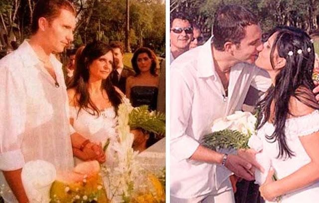 Gretchen casamento com Juliano, vestido de noiva