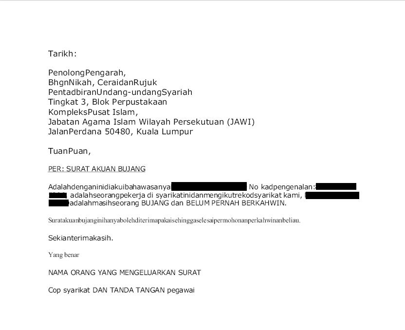 17 Contoh Surat Akuan Bujang Jais Kumpulan Contoh Surat