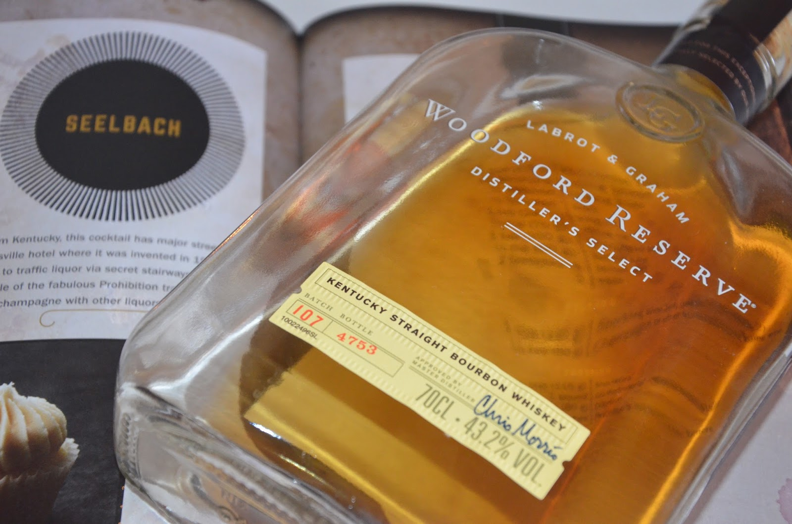 Woodford Reserve bottle of bourbon